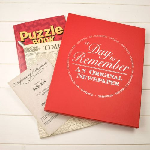 Personalised Original Newspaper with Puzzle Book